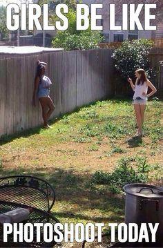 Girls be like photoshoot today