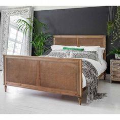 Raffety Wicker Weathered Bed