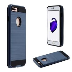 Apple iPhone 7 Plus Fusion Metal Design Hybrid Rugged Case, Blue/Black