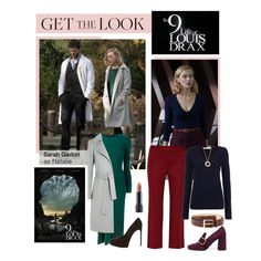 """""""The 9th Life of Louis Drax"""" by polyvore-editorial ❤ liked on Polyvore featuring Cédric Charlier, Theory, Yves Saint Laurent, The Row, Oui, Trafalgar, Prada, Bite, jamiedornan and sarahgadon"""
