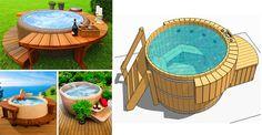 ¡Conoce estas Bañeras al aire libre que se adaptan a cualquier rincón de tu hogar! Grill, Pools, Redneck Pool, Garden, Ideas, Outdoor Bathtub, Outdoor Projects, Wire Mesh, Stove