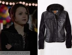 Finding Carter: Season 2 Episode 5 Carter's Black Hooded Denim Jacket