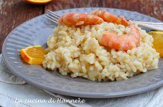 Risotto con gamberi e finocchi al sapore d'arancia