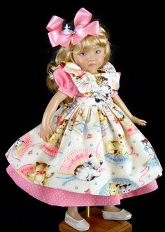 Pinafore, Dress fits Effner 13, Little Darling. by *Little Charmers Doll Designs