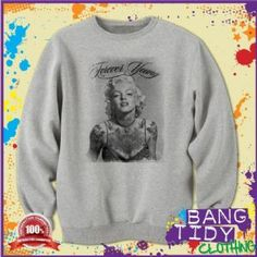 Marilyn Monroe Forever Young Tattoo Some Like it Hot movie Mens Sweatshirt  Our Price: £19.97