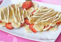Strawberry Banana Easy Crepe Recipe