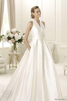 weddinginspirasi:Gala sleeveless gown with pockets. Manuel Mota 2013 Wedding Dresses | Wedding Inspirasi