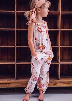 Birdie Long Playsuit Autumn Rose cutest freaking thing ever Fashion Mode, Look Fashion, Kids Fashion, Fashion 2018, Womens Fashion, Little Girl Fashion, My Little Girl, Cute Outfits For Kids, Cute Kids