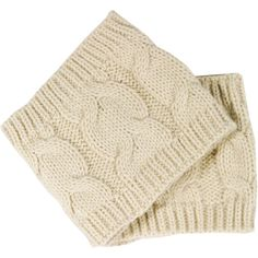 Oat Cable Knit Boot Cuffs ($21) ❤ liked on Polyvore featuring intimates, hosiery, leg warmers, pink, women's clothing, cable knit leg warmers, cable leg warmers, boot cuff leg warmers and pink leg warmers
