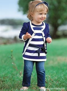 Buy baby girl sets Girls spring outfits Toddler navy blue coat stripe shirt and jeans sets infant 5pcs- Aliexpress.com