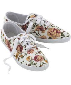 Amazon.com: Joe Browns Women's Antique Rose Floral Lace Up: Shoes
