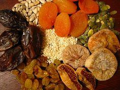 Frutas desidratadas são excelentes para a saude, mas cuidado com as calorias.