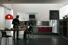 Simple, Sleek Kitchen Design For Wheelchair Users. | Universal Design Plans  | Pinterest | Kitchen Design, Kitchens And Kitchen Unit