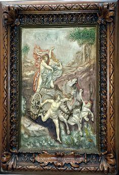 """Rarität: Altes Reliefbild """" Raub der Proserpina"""""""