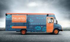 Sexy and fun falafel, fries, and hummus have arrived in Orange County, California. Falasophy is a gourmet falafel and hummus bar that comes in the shape of a food truck and provides a fresh interpretation… Falafel, Food Truck Design, Food Design, Design Ideas, Muscle Cars, Food Truck Business, Business Ideas, Best Food Trucks, Truck Cakes