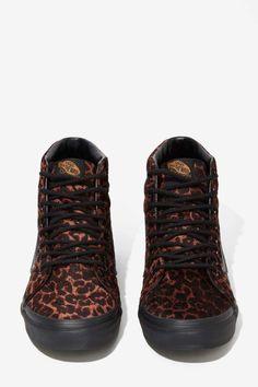 Vans Sk8-Hi Sneaker - Leopard Suede | Shop Shoes at Nasty Gal!