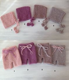 Newborn Knit set- Knit hat and pants