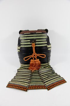 Japanese Partial Suit of Lacquered Armor with Iron Face Mask, Edo Period
