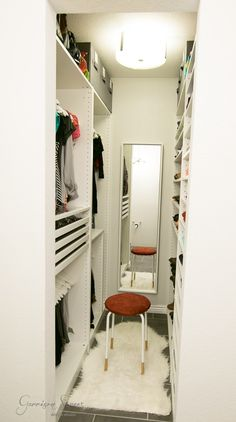 Bedroom closet design layout storage new Ideas Walk In Closet Small, Walk In Closet Design, Bedroom Closet Design, Master Bedroom Closet, Small Closets, Closet Designs, Home Bedroom, Bedroom Decor, Bedroom Small