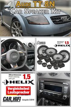 Audi TT 8N Speaker Component And Coaxial Kit Front And Rear - Car Hifi Radio Adapter.eu Audi TT 8N from 1998-2006