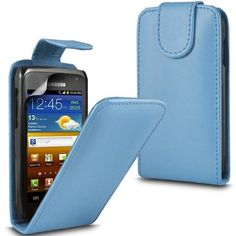 Buy Samsung Galaxy W i8150 Leather Flip Case Cover (Baby blue) Plus Free Gift, Screen Protector and a Stylus Pen, Order Now Best Valued Phone Case on Amazon! By FinestPhoneCases NEW for 10.99 USD | Reusell