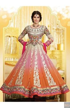 Exclusive New Embroidered Wedding wear anarkali suit