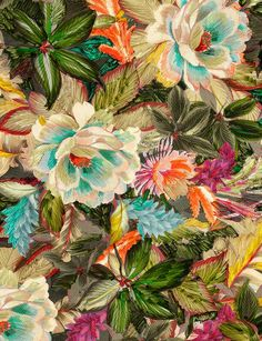 NEW 100/% Silk Chiffon Pucci Inspired Fabric Multi Color Floral By The Yard