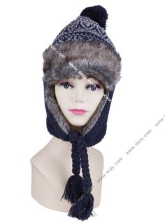 Korean Style Unisex Winter Sequined Plush Cotton Russian Hat