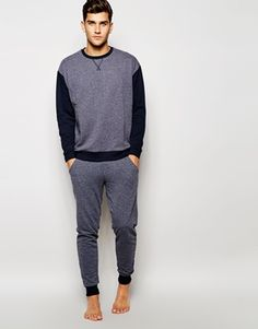 ASOS | ASOS Loungewear Set In Nepp Fabric at ASOS