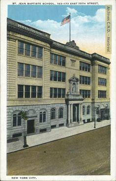 Saint Jean Baptiste School, institution founded in 1886, New York