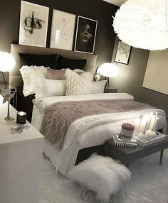 cozy grey and white bedroom ideas; bedroom ideas for small rooms; bedroom decor on a budget; bedroom decor ideas color schemes ideas for small rooms cozy white Budget Bedroom, Room Ideas Bedroom, Small Room Bedroom, Home Decor Bedroom, Bedroom Ideas For Small Rooms Women, Cozy Bedroom, Bedroom Apartment, Bedroom Decor For Couples On A Budget, Classy Bedroom Ideas