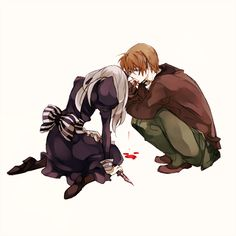 Hetalia - America / Belarus I don't ship them or like them together at all but I love this picture