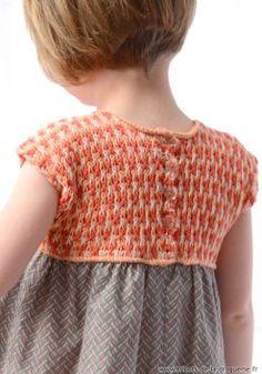 """L'empiècement en tricot est tout doux sur la robe """"Bénodet"""" ! #ladroguerie #robe #tricot"""
