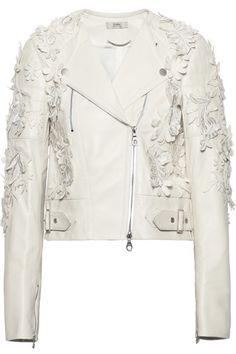 ERDEM Jade appliquéd leather biker jacket #MelsCloset