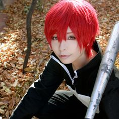 Anime assassinat classe Karma Akabane rouge court Cosplay perruque