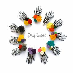 Custom Color Skeleton Hair Clips - 1 pair - pinned by pin4etsy.com