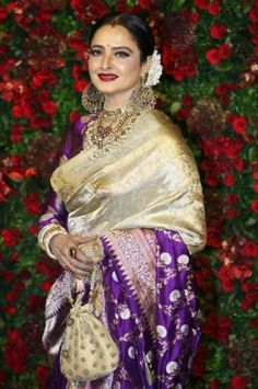 Gemini Ganesan, Rekha Saree, Latest Saree Trends, Neetu Singh, Rekha Actress, Popular Magazine, Dark Complexion, She Movie