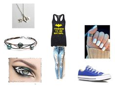 """""""batman"""" by midnighttt ❤ liked on Polyvore featuring Converse and Rachel Pfeffer"""