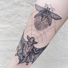 Hunting Bat Tattoo
