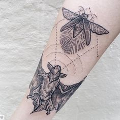 Hunting Bat Tattoo