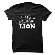 lion My Heart Belongs To A Lion CLANS TEESHIRT - #cowl neck hoodie #baggy hoodie. PURCHASE NOW => https://www.sunfrog.com/Names/lion-My-Heart-Belongs-To-A-Lion-CLANS-TEESHIRT-75322598-Guys.html?68278