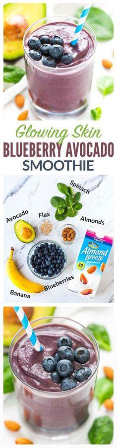 Blueberry Avocado Banana Smoothie