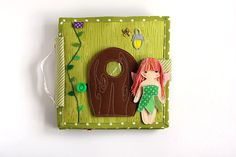 Fairy Dollhouse Quiet book Special handmade gift for a girl