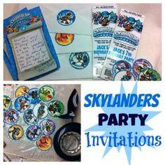 Skylanders Party Invitations