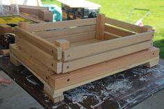 building wooden gardening box