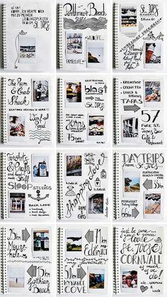 Ives Travel Guide & Fuji Instax Mini 70 Giveaway - Foto Home Travel Journal Scrapbook, Travel Journal Pages, Album Photo Original, Album Photo Voyage, Album Photo Scrapbooking, Scrapbooking Ideas, Diy Mini Album, Fuji Instax Mini, Diy Gifts