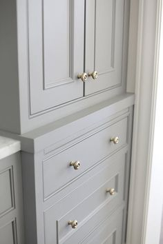 gray kitchen cabinets // H2 Design Build