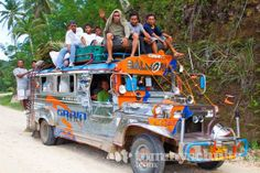 JEEPNEY PHOTOS | Philippine jeepney crowded with passengers on a dirt road in Sia ...