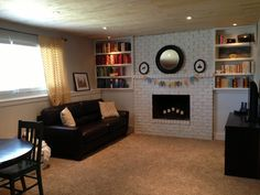 1000 images about family room ideas on pinterest fixer for Bi level basement ideas
