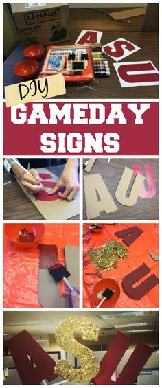 Cheer on your favorite #football team with these easy #DIY #gameday signs!